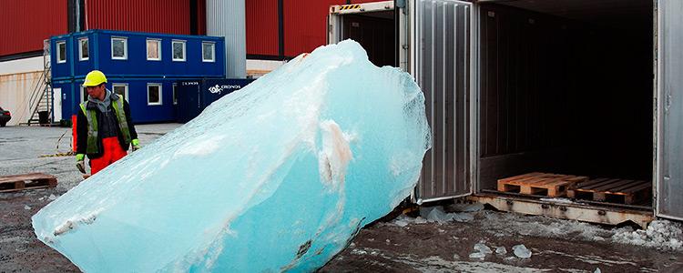 ¿Transportar hielo en contenedores refrigerados?